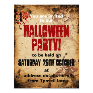 Grunge Halloween Party Invite