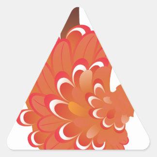 Grunge Hand Chicken 2 Triangle Sticker