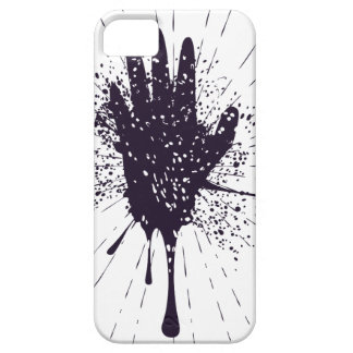 Grunge Hand with Gestures iPhone SE/5/5s Case