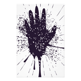 Grunge Hand with Gestures Stationery