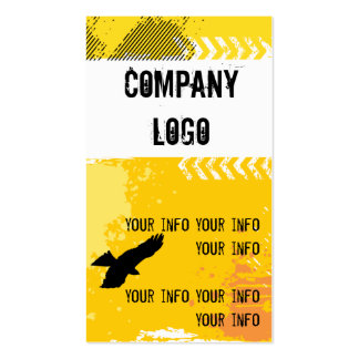 Grunge Hawk Double-Sided Standard Business Cards (Pack Of 100)