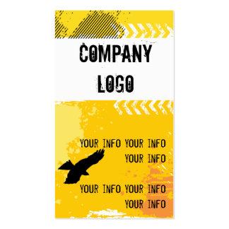 Grunge Hawk Business Card Templates