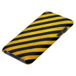 Grunge hazard stripe barely there iPod cases