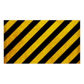 Grunge hazard stripe Double-Sided standard business cards (Pack of 100)