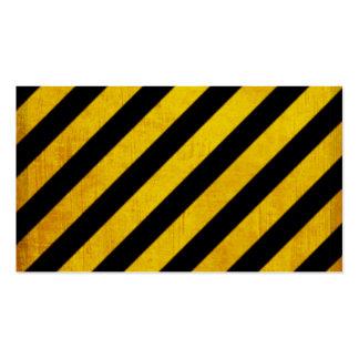 Grunge hazard stripe business card