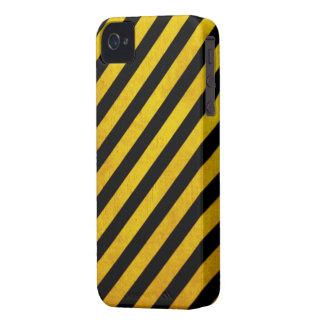 Grunge hazard stripe iPhone 4 Case-Mate case
