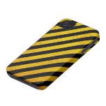 Grunge hazard stripe iPhone 4 Case-Mate cases