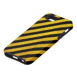 Grunge hazard stripe iPhone 5 case