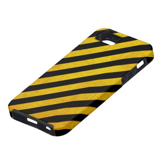 Grunge hazard stripe iPhone SE/5/5s case