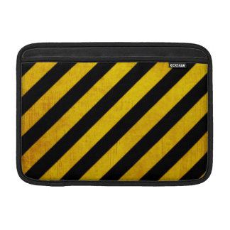 Grunge hazard stripe MacBook air sleeve