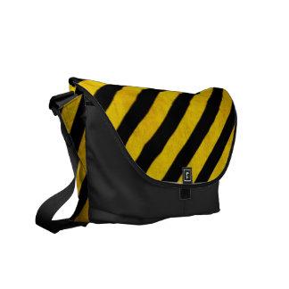 Grunge hazard stripe commuter bags
