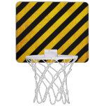 Grunge hazard stripe mini basketball backboard