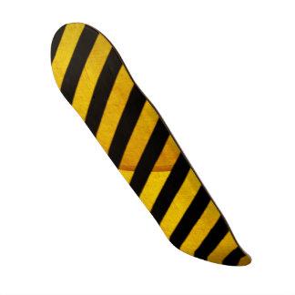 Grunge hazard stripe custom skate board