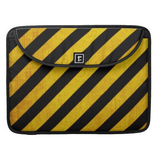 Grunge hazard stripe sleeves for MacBook pro