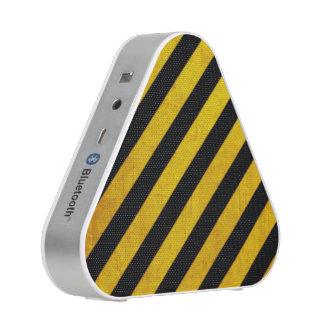 Grunge hazard stripe speaker