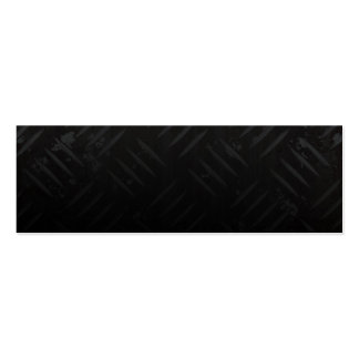 Grunge Hazard Stripes Diamond Plate Double-Sided Mini Business Cards (Pack Of 20)