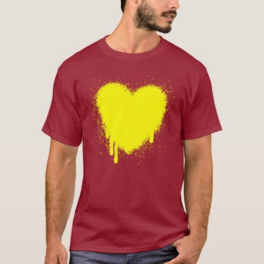 Grunge Heart - Black T-Shirt