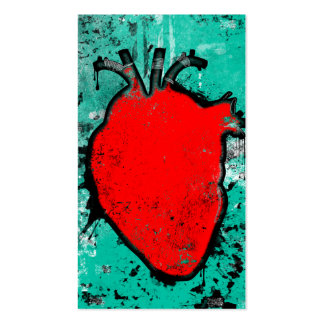 grunge heart business card