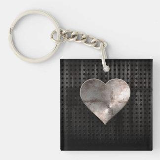 Grunge Heart Keychain