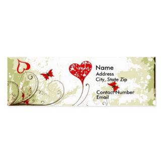 Grunge Heart Mini Business Card