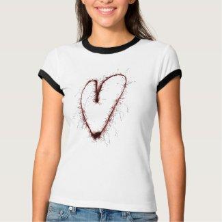 Grunge Heart Shirt shirt