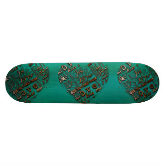 Grunge Heart Skateboard Deck