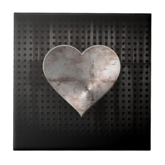 Grunge Heart Small Square Tile