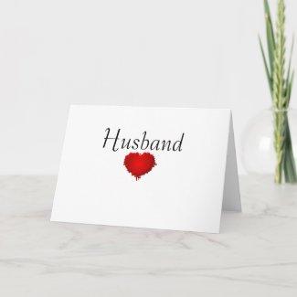 Grunge Heart Valentine Cards card