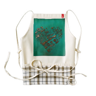 Grunge Heart Zazzle HEART Apron