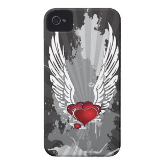 Grunge Hearts with Wings Case-Mate iPhone 4 Case