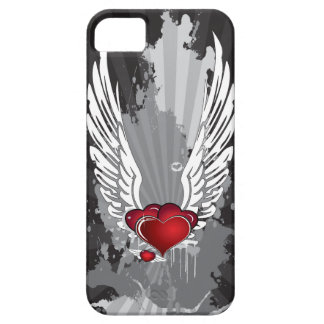 Grunge Hearts with Wings iPhone SE/5/5s Case