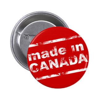 Grunge hecho en Canadá - rojo Pin