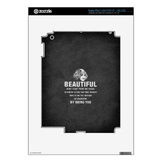 Grunge hermoso del comienzo de la necesidad del iPad 3 skin