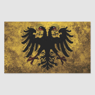 Grunge Holy Roman Empire Flag Rectangular Sticker