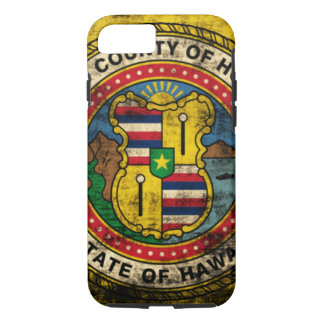 Grunge Honolulu Hawaii Flag iPhone 8/7 Case