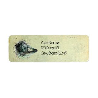 Grunge Hood Portrait Label