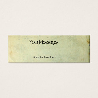 Grunge Hood Portrait Mini Business Card