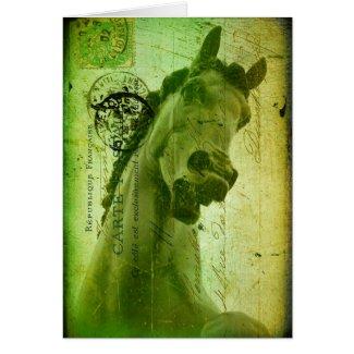 Grunge Horse Postcard-Like card