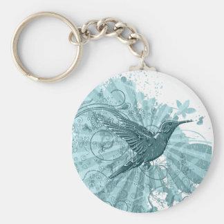 Grunge Hummingbird Keychain Key Chains
