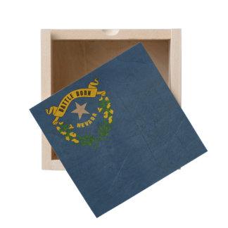 Grunge illustration of Nevada state flag Wooden Keepsake Box