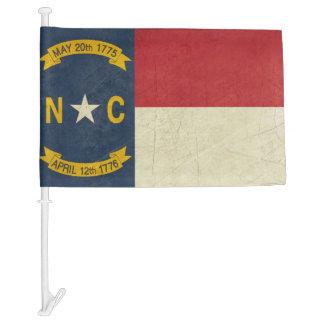 Grunge illustration of North Carolina Car Flag