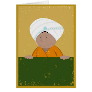 Grunge Indian Cartoon Background Card