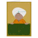 Grunge Indian Cartoon Background Cards