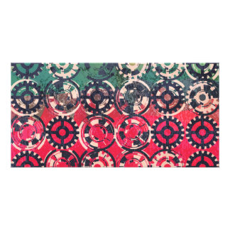 Grunge industrial pattern card