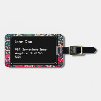 Grunge industrial pattern luggage tag