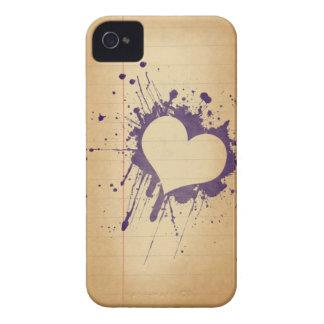 Grunge ink heart Case-Mate iPhone 4 case