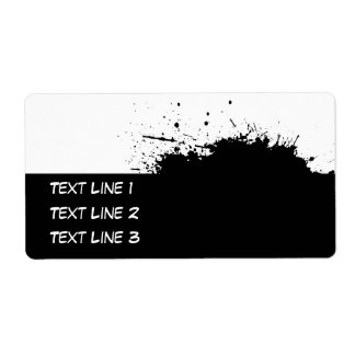 Grunge Ink Stain Template For Avery Label