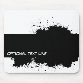 Grunge Ink Stain Template Mousepad