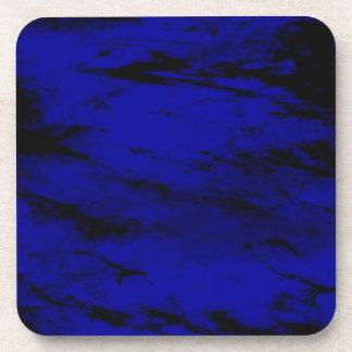 Grunge INKY BLUE Drink Coaster