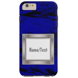 Grunge inky blue tough iPhone 6 plus case